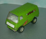 1/34 Scale Tiny Tonka Snap Dragon Van Vintage 1970and039s Pressed Steel Toy Truck 585