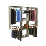 Closet Storage Organizer System W/ 3 Shelves Wall Mounted Includes 5 Rods Home