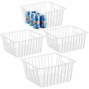 Ipegtop Refrigerator Chest Freezer Baskets Large Household Wire Storage Bins Of
