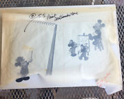 Original 1977 Disneyland Andldquohow To Draw Mickeyandrdquo Mouse Illustration Artwork- 1 Of 1