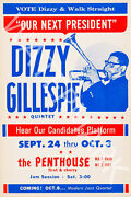 Dizzy Gillespie - The Penthouse - 1964 Vintage Music Poster