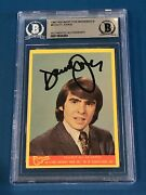 Davy Jones Signed 1967 Raybert The Monkees Card 3 Beckett Authenticated Bas