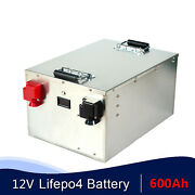 Lifepo4 12v 600ah Deep Cycle Battery Bms With Home Charger Solar Rv