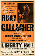 Rory Gallagher - Liberty Hall - 1973 Vintage Music Poster