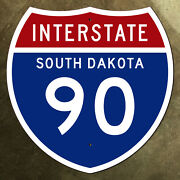South Dakota Interstate Route 90 Highway Marker Road Sign 24x24 1957 Sioux Falls