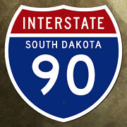 South Dakota Interstate Route 90 Highway Marker Road Sign 36x36 1957 Sioux Falls