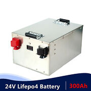 Lifepo4 24v 300ah Deep Cycle Recharge Battery Bms With Home Charger Solar Rv
