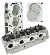 Aeroflow Complete Aluminium Cylinder Heads Pair 315cc Runner With 121cc Chamb