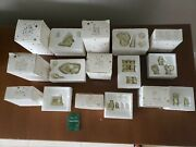 Lot Of 8 Snowbabies Miniature Figurines Dept 56 Retired 1996 With Boxes