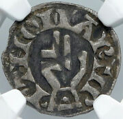 1200ad France Archbishopric Besancon Old Silver Denier Medieval Ngc Coin I88554