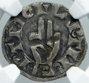 1200ad France Archbishopric Besancon Old Silver Denier Medieval Ngc Coin I88556