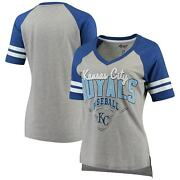 Kansas City Royals G-iii 4her By Carl Banks Womenand039s Goal Line T-shirt -