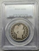 1897-o Barber Half Dollar Pcgs Ag3 Perfect Key Date Coin Free S/h