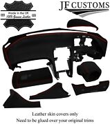 Red Stitch Italian Leather Covers For Nissan 300zx Z32 Dashboard Recovery Kit