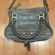 Marcie Shoulder Bag Beauty Brown Leather Speed Shipping