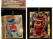New Disney Pin Storybook Stitch Dinosaur Jumbo Stained Glass Pins Le 750