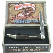 Winchester Brown Checkered Bone Collectors Ed Toothpick Pocket Knife