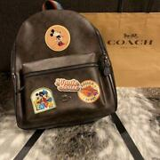 Coach X Disney Micky Mouse Minnie Mouse Collaboration Emblem Signature Backpack