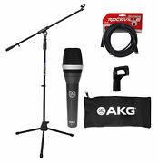 Akg D5 C Professional Dynamic Cardioid Microphone D5c+mic Stand W/boom+xlr Cable