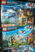 Lego Harry Potter Privat Drive And Quidditch Match Sets, Each Unopened.ages 7-14