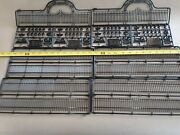 2 Sets - One Each Of O Scale Fencing And Mounted Police - New