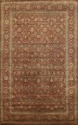 Vegetable Dye Hand-knotted Floral Agra Oriental Area Rug Traditional Carpet 9x13