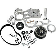 Belt Drives Ltd. 2 Open Belt Drive Kit - Polished Evo-220-p