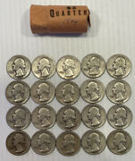 Roll Of 20 Quarters Years 1944 As