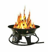 Outland Firebowl 863 Cypress Outdoor Portable Propane Gas Fire Pit With Cover