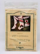 3 Victorian Christmas Stockings 18 Full Size Patterns And Instructions 1982