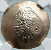 John Ii Ancient 1118ad Gold Silver Alloy Byzantine Coin Jesus Christ Ngc I87811