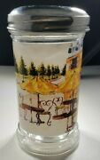 Grated Vintage Cheese Shaker W/lid Cafe Scene 5 Tall