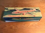 Passenger Plane-made In Old China-friction Powered Tin Toys +original Box 1960