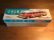 Touring Bus-made In Old China-friction Powered Tin Toys+original Box'60-ii