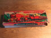 Union Pacific Locomotive Made Japan-battery Operated Tin Toys+original Box'60