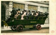 Postcard Early Sightseeing Bus, New York City Ca 1906 - Detroit Publishing Co