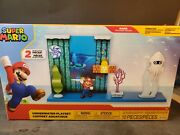 2020 World Of Nintendo Super Mario Deluxe Underwater Playset And Figure Boxed New