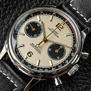 Sugess Panda Chrono Chronograph Mechanical Mens Watch Seagull 1963 Supan002gn/sn