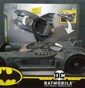 Batman Batmobile And Batboat 2-in-1 Transforming Vehicle For 4in Action Figures