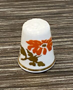 Spode Hand Painted Floral China Thimble
