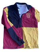 Wizarding World Of Harry Potter Gryffindor Quidditch Jersey Polo Sz Small