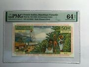 World Paper Money - French Antilles P-6a Pmg 64
