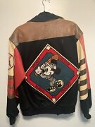 Jeff Hamilton Mickey Mouse Leather Jacket Stajan Made In Usa 90's Vintage M