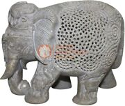 7 Natural Soapstone Marble Jumbo Elephant Statue Collectible Housewarming Gifts