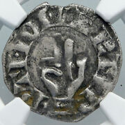 1200ad France Archbishopric Besancon Old Silver Denier Medieval Ngc Coin I88925