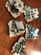 Hawthorne Village Victorian Christmas House Lot Of 5 2006 Evening Carolers