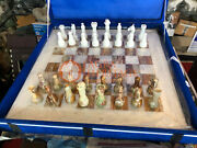 20 Marble White Chess Set With Chess Pieces Inlaid New Year Eve Gift Special