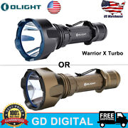Olight Warrior X Turbo Tactical Torch Magnetic Rechargeable Led Flashlight New