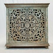 Made To Order Dynasty French Hand Carved Doors Buffet Sideboard Grey Wash Rustic