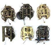 3 No Seth Thomas Plymouth Conn Usa Clock Movement + 3 Others For Spares / Repair